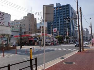 国道3号線の真鶴二丁目交差点の画像