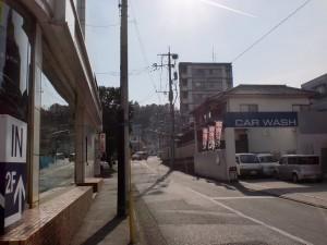 国道3号線の真鶴二丁目交差点を左折したところの画像