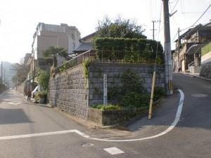長崎街道・清水の水場手前の分岐地点の画像