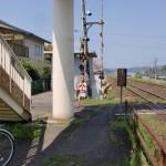 JR本牟田部駅の歩道橋のある側の出口の画像