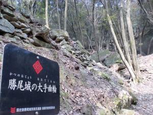 勝尾城大手曲輪の画像