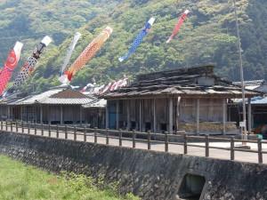椎根の石屋根倉庫(対馬)の画像