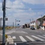 大町駅西側の国道34号線から県道214号線に入るT字路の画像