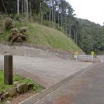 肥前犬山城へ至る林道の分岐地点の画像