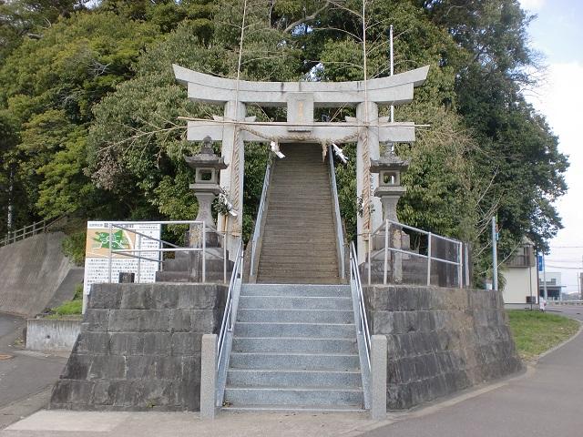白岩山の登山口 海童神社と龍王崎古墳群にアクセスする方法