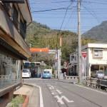 上有田駅から県道281号線に出合うT字路の画像