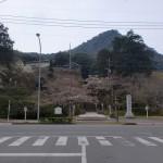 武雄神社前のT字路の画像