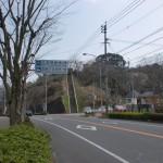 武雄神社前の御船ヶ丘梅林に入るT字路の画像