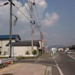 武雄温泉駅北口前の円応寺方面に入るT字路の画像