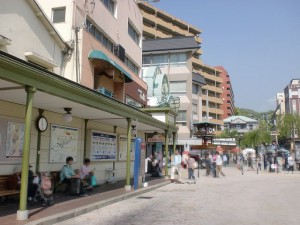 道後温泉駅前バス停の画像