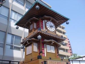道後温泉駅前のからくり時計の画像
