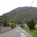 城山(唐津市)登山口へ向かう車道の画像
