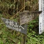 城山登山口(城山・十坊山登山道入口分岐地点)の画像