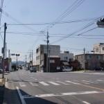 西唐津駅近くの県道24号線沿いにある日赤病院入口の交差点の画像