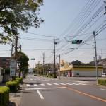 西唐津の二タ子郵便局前の信号の画像