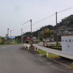 金武駅(松浦鉄道)横の踏切地点の画像