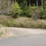 腰岳登山道への林道入口(腰岳健康の森側)の画像