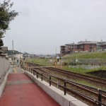 夫婦石駅(松浦鉄道)横の踏切(歩道)の画像