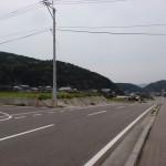 伊万里有田共立病院からあすなろの里方面に向かうT字路の画像