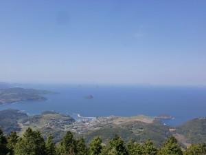 鯛ノ鼻山頂展望台からの眺望の画像