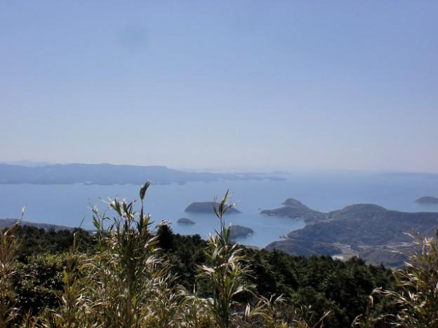 上床高原登山口駐車場からの眺望の画像