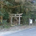 白山比賣神社参道入口(安満岳登山口)の画像