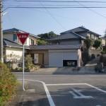 今福駅前のT字路の画像