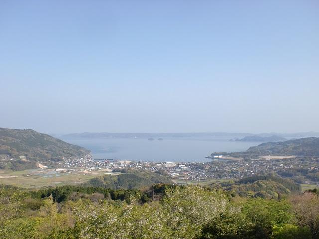 石倉山森林公園から見る伊万里湾の画像