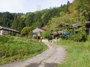 柞野登山口から大川山の登山道に至る通