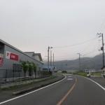 法華津峠入口の手前にある日本郵便の集配センター前の画像