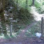 大屋敷橋の苫尾山・大滝山登山口の画像