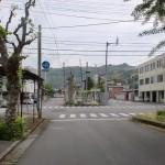 中央児童公園前の交差点(宇和島市)の画像