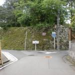 宇和津彦神社横のT字路(宇和島市)の画像