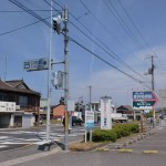 JR引田駅前の国道11号線の画像