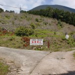 譲ヶ葉森登山道入口手前の畜舎跡入口分岐地点の画像