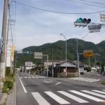 大坂峠入口のT字路(国道11号線)の画像