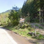 堂ヶ森の登山道入口となる梅ヶ市林道入口の画像