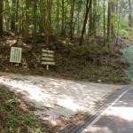 上林森林公園に向かう途中の上林峠などへの分岐地点の画像