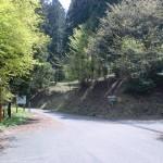 上林森林公園入口手前のT字路の画像
