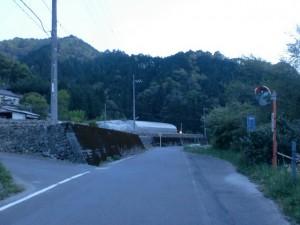 福見川町の三本杉入口のT字路の画像