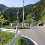 水ヶ峠トンネル北口手前の林道入口の画像