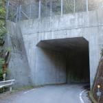 北三方ヶ森の水ヶ峠登山口の先にある隧道の入口の画像