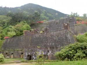 東平(東洋のマチュピチュ)にある旧別子銅山の索道基地跡の画像