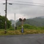 雲辺寺ロープウェイ手前500m地点にあるT字路の画像