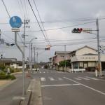 塩入駅南側にある福良見の交差点の画像