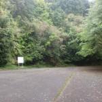 尾瀬神社山頂直下の駐車場の画像