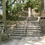 大窪寺(第八十八番札所)の本堂手前の石段の画像