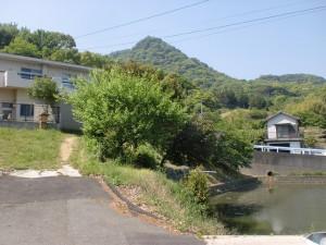 雨滝山登山口に行く途中にある池のあたり