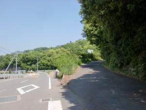 松井池の上にある墓地への登り口