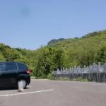 松井池の上にある松井谷墓地奥の駐車場